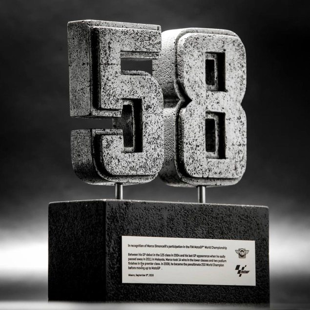 Marco Simoncelli MotoGP Number 58 retired