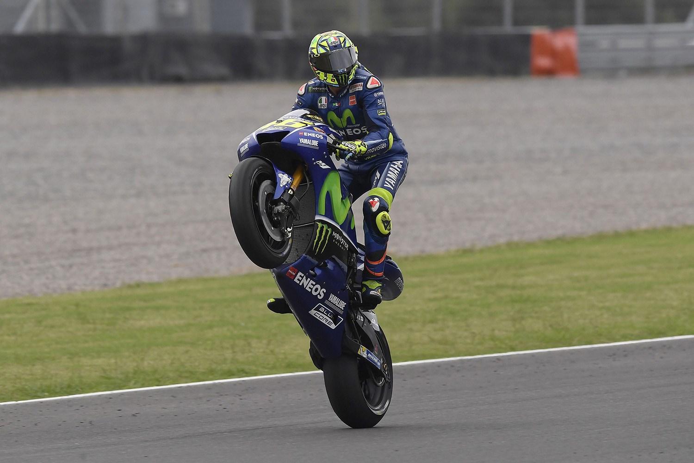 MotoGP  Роси ја прослави 350 тата трка во кариерата со место на подиумот