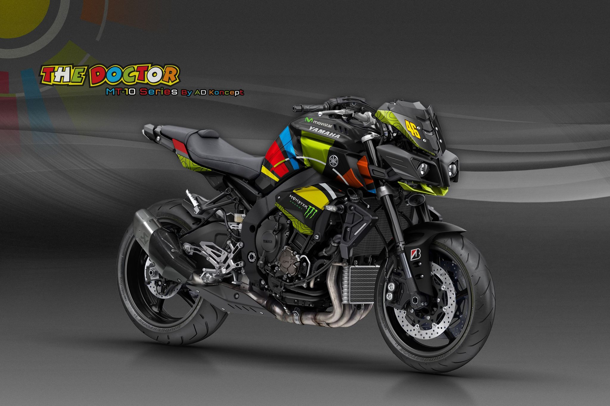 yamaha mt 10 in valentino rossi livery and more from ad koncept 5