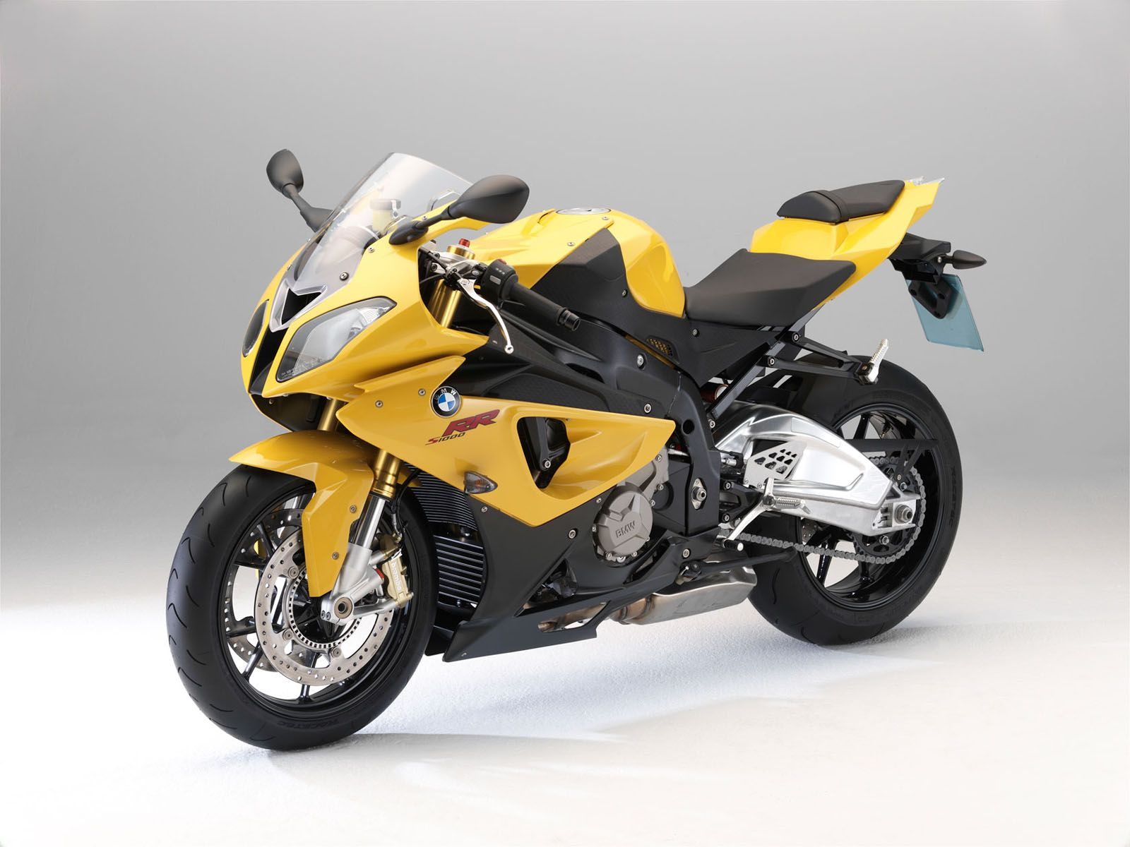 bmw s1000rr yellow front side wallpaper - 1600x1200