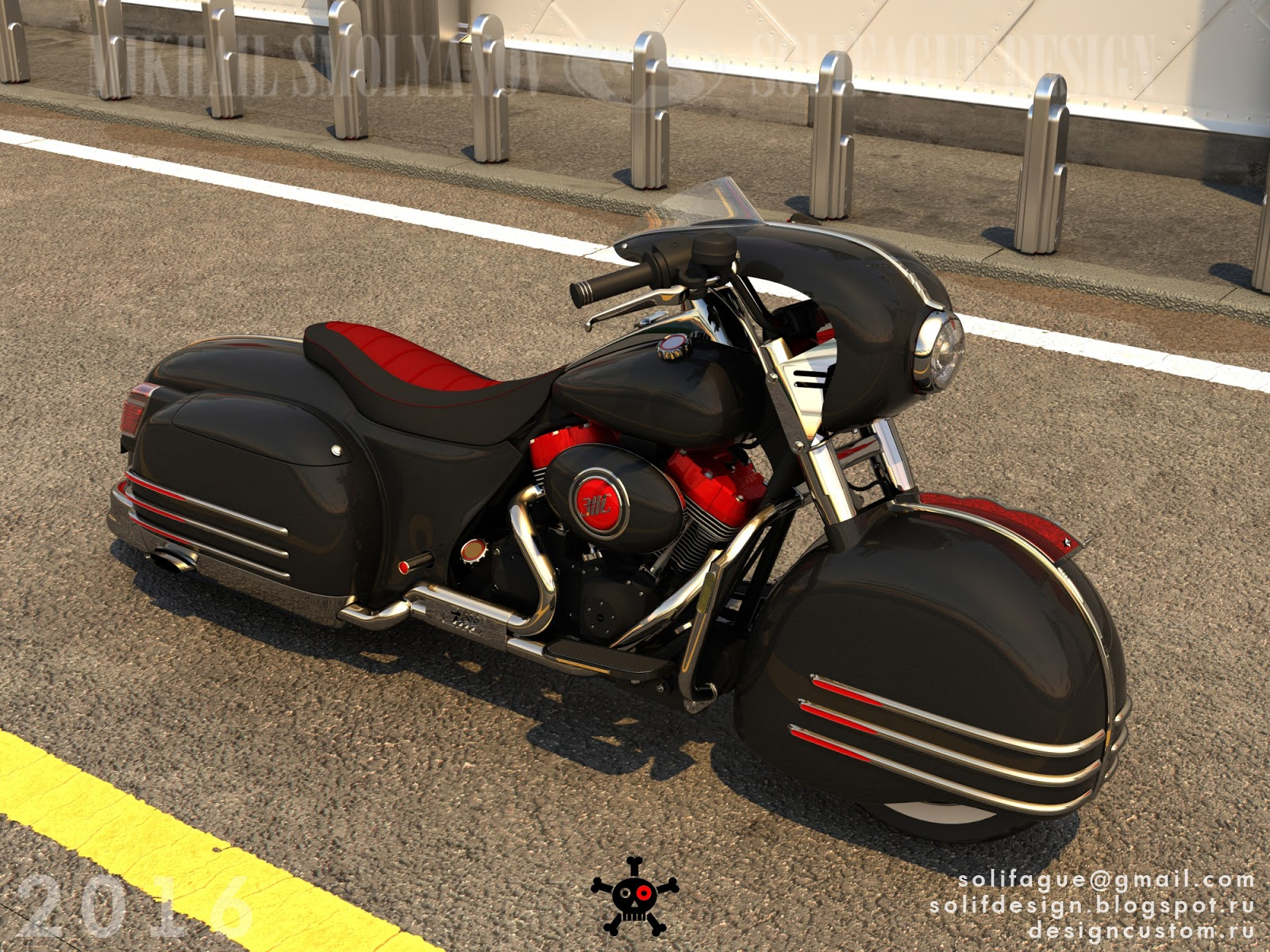 custom harley davidson pays tribute to the zis 110 limo 7